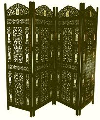 Folding Screen Room Divider Wooden Screens Room Dividers 4 Panel Carved Indian Wooden