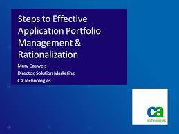 to effective application portfolio management u0026 rationalization