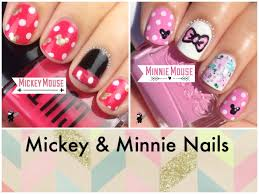 mickey and minnie mouse nails by the crafty ninja youtube