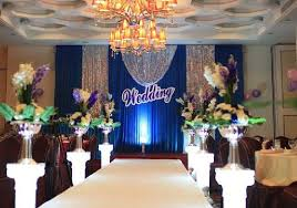 wedding backdrop blue 2017 hot sale royal blue color wedding backdrop curtain with