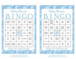 winter baby shower game download for boy baby bingo u2013 celebrate