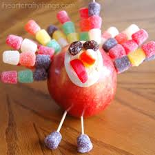 thanksgiving apple turkey craft i crafty things