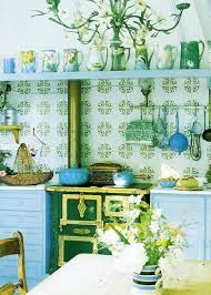 Blue Yellow Kitchen - 20 modern kitchens decorated in yellow and green colors