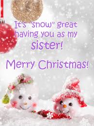 cute snowman christmas card sister birthday u0026 greeting cards