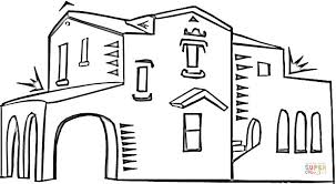 spanish architecture coloring page free printable coloring pages