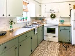 green lower white kitchen cabinets how to repaint kitchen cabinets painted by payne