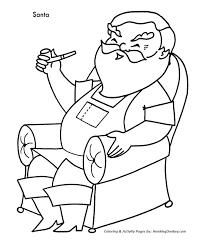 christmas santa coloring santa favorite chair