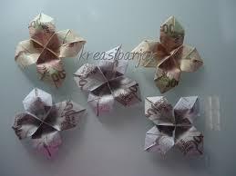 cara membuat origami bunga dari uang kertas kreasibanjar cara melipat uang kertas menjadi bentuk bunga