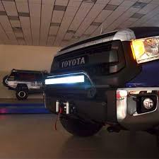 2014 tundra led light bar n fab front bumper textured black off road light bar up to 30 led