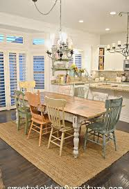 white farmhouse table black chairs diy chippy farm table w mismatched chairs hometalk contemporary and