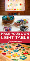 Make Your Own Childrens Toy Box by Homemade Easy Low Cost Light Table Tinkerlab