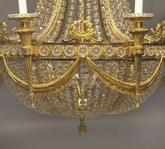 Bacarat Chandelier Russian Empire Style Baccarat Chandelier For Sale At 1stdibs
