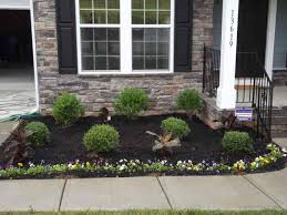 front yard landscaping ideas with mulch with rocks and stones