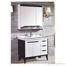 solid wood bathroom cabinet 2018 multi layer solid wood bathroom cabinet ceramics wash basin