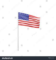 Us Flag Pole Flag Usa Flag Pole Waving Wind Stock Illustration 195226448