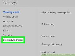how to block emails on android how to block an email address on yahoo 7 steps with pictures