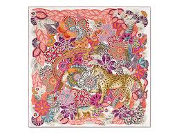 paisley jungle animals and flowers print scarf silks
