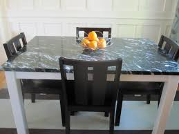 Dining Room Furniture Deals Agreeable Dark Square Marble Top Dining Table Black Wooden Armless