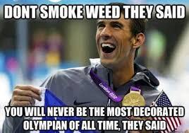 Funny Meme Videos - marijuana meme monday 4 1 michael phelps edition highroulette