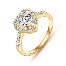 gold promise rings gold heart rings for women online get cheap heart promise rings