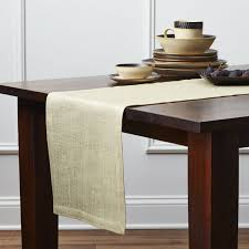 gold burlaptable runner crate and barrel