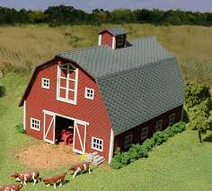 Gambrel Roof Barns S Scale Structure Kits