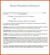 training contract template cover letter training contract