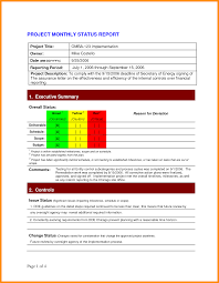 monthly it report template for management and 7 monthly report