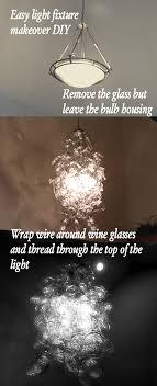Wine Glass Chandelier Diy Diy Wine Glass Chandelier Trading Phrases