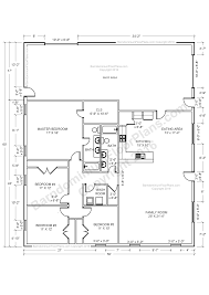 barndominium floor plans pole barn house plans and metal barn you can add a large island in the kitchen with an area for stools facing into the kitchen