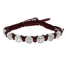 catholic bracelets st benedict woven bracelet the catholic company