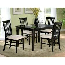 modern dining room table and chairs espresso dining set 5 piece modern dining set w slat back chairs