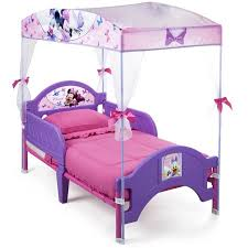 Toddler Bed With Canopy Minnie Mouse Bow Tique Toddler Bed With Canopy Walmart