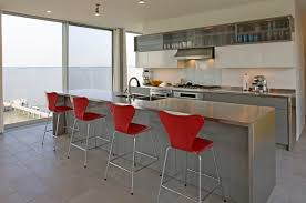 metal kitchen island kitchens minimalist kitchen with glass cabinet also
