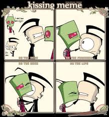 Zim Meme - zadr kissing meme by dokoyne on deviantart