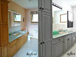 painted cabinets before and after bathroom painted cabinets before and after ideas