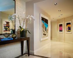 Porcelain Tile Entryway Porcelain Marble Tile Hall Contemporary With Art Entrance Hall