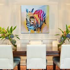 home decoration handmade iarts original colorful smiling zebra square size home decor