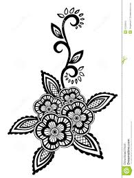 Black And White Design by Beautiful Floral Element Black White Flowers Leaves Design Element Imitation Guipure Embroidery Many Similarities 31236610 Jpg