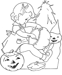 Halloween Decorations Coloring Pages Vintage Coloring Book Images To Embroider A Link On This Page To