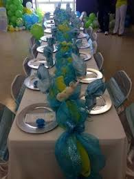 mesh ribbon table decorations e8ea0674f68b47bfb6f1a51558f0349b jpg 736 778 v pinterest