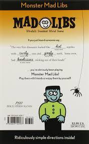 Halloween Mad Libs Printable Free by Monster Mad Libs Roger Price Leonard Stern 9780843100587