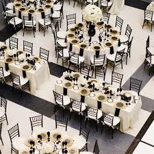 Black and Gold Wedding Reception Decorations