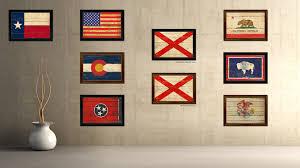 alabama home decor alabama state vintage flag canvas print with black picture frame
