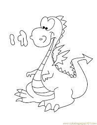 cartoon dragon coloring pages coloring