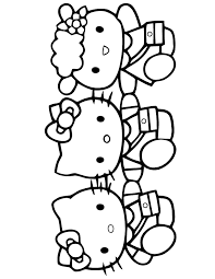 hello kitty and friends coloring page h u0026 m coloring pages