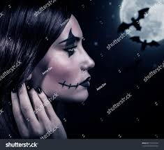 halloween full moon photography background side view terrifying witch halloween night stock photo 157922774