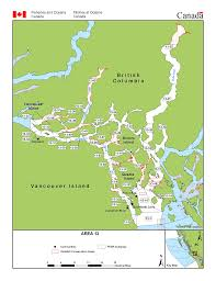 Pacific Region Map Fisheries Management Area 13 Quadra Island Cortes Island