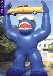 gorilla balloon ideas gorilla holding car