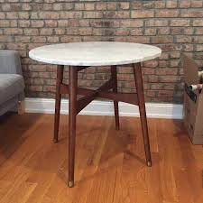 Mid Century Bistro Table West Elm Marble Reeve Mid Century Bistro Table For